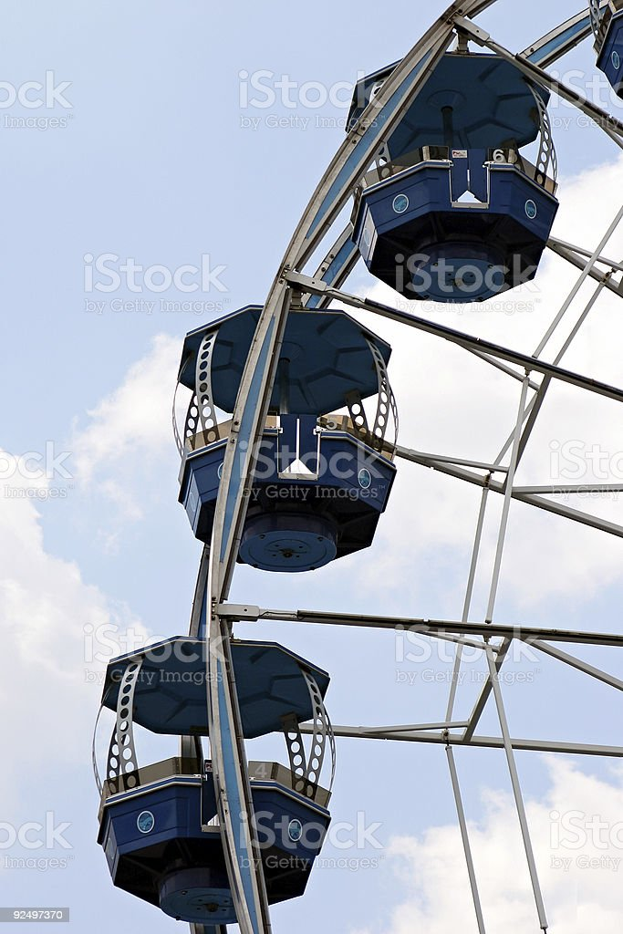 Ferris wheel in the sky royalty-free stock photo