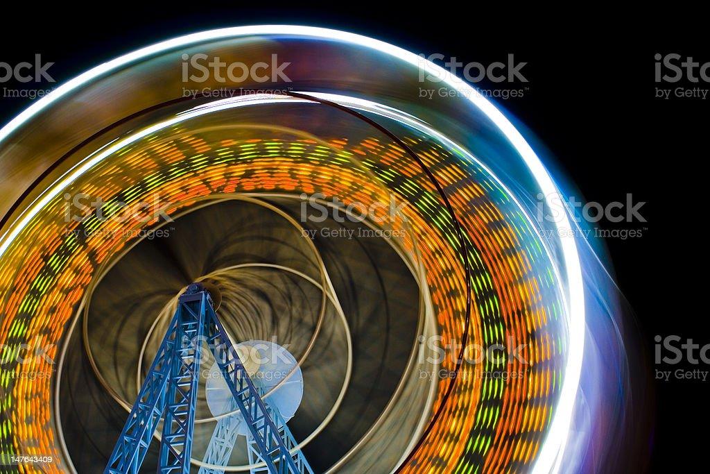 Ferris Wheel Is Shining In The Night stock photo