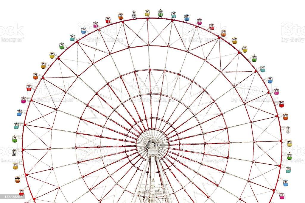 Ferris wheel isolated stock photo