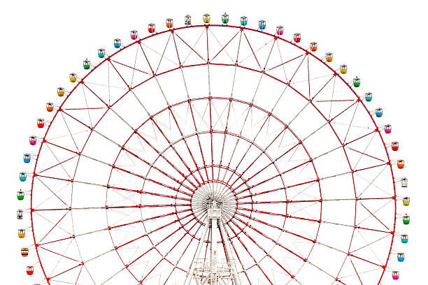 Ferris wheel isolated colorful large ferris wheel isolated on white background ferris wheel stock pictures, royalty-free photos & images