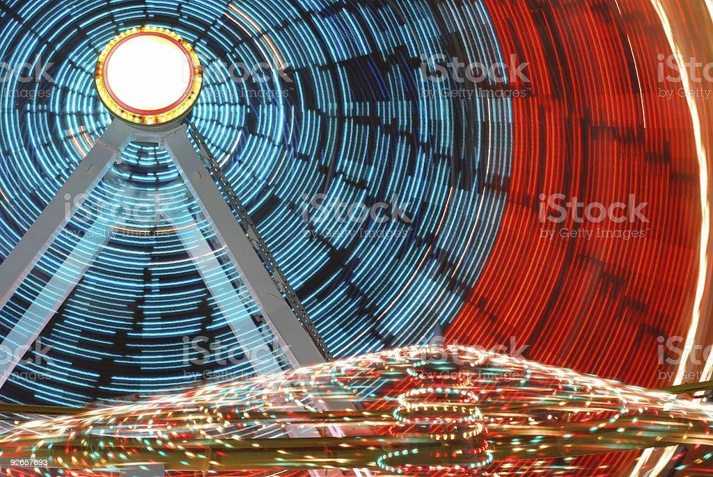 Ferris Wheel Lights royalty-free stock photo