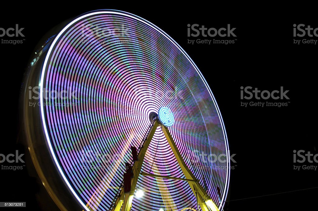 ferris wheel motion stock photo