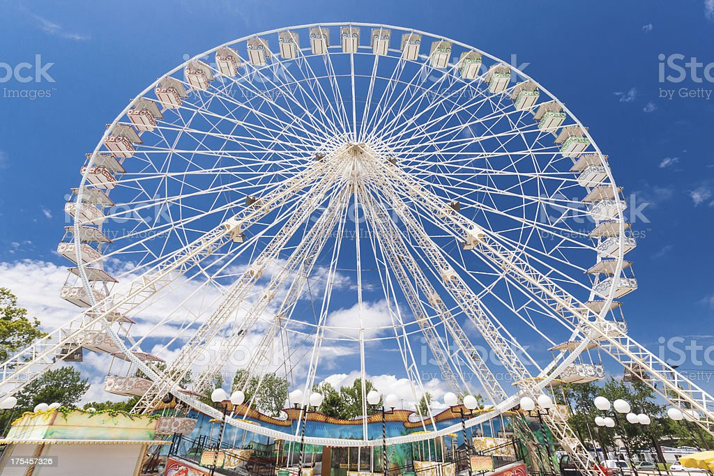 Ferris wheel of fair and amusement park royalty-free stock photo