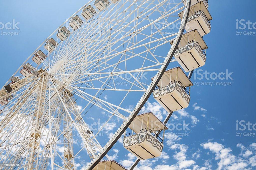 Ferris wheel of fair and amusement park royalty-free stock photo
