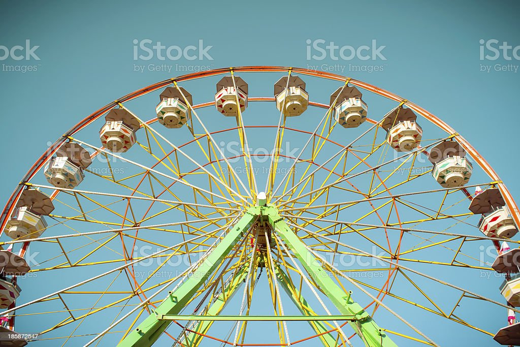 Ferris wheel on a sunny afternoon royalty-free stock photo