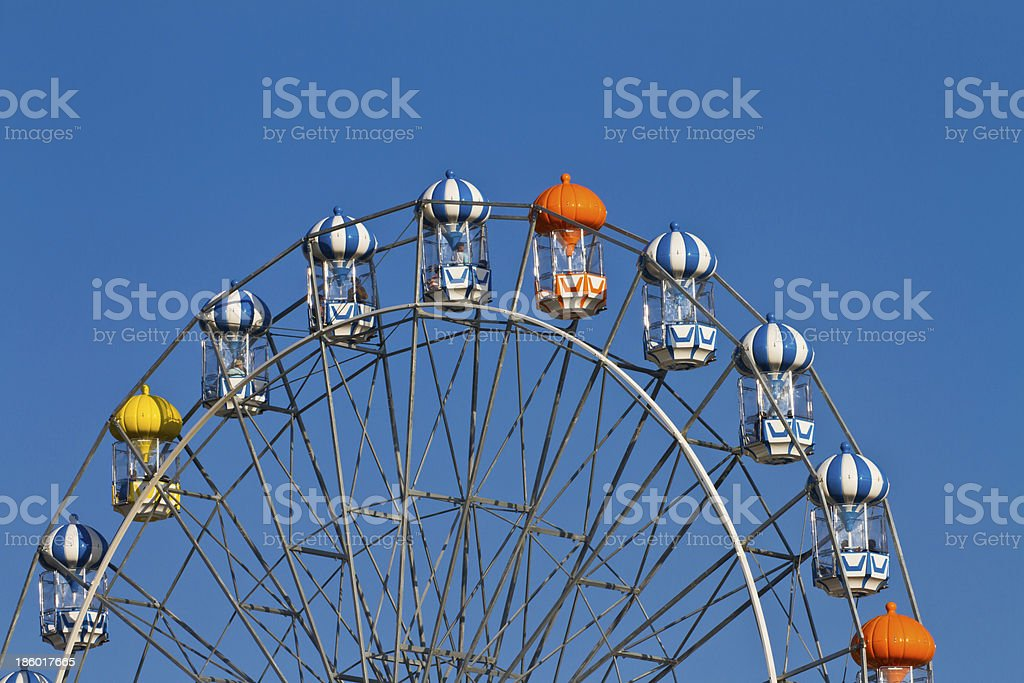 Ferris wheel on the blue sky royalty-free stock photo