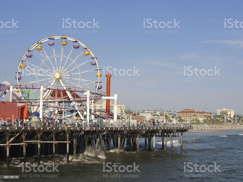 Ferris Wheel on the Pier stock photo