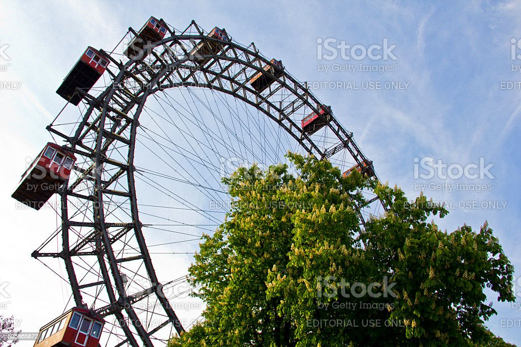 Riesenrad, Pater landmark in Vienna stock photo