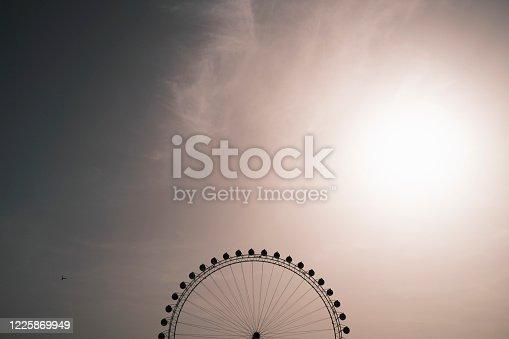 Minimal ferris wheel. Antalya, Turkey