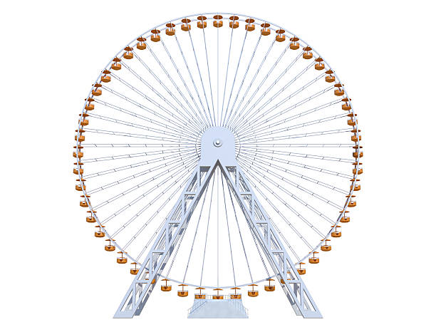 Ferris Wheel Ferris Wheel on a white background ferris wheel stock pictures, royalty-free photos & images