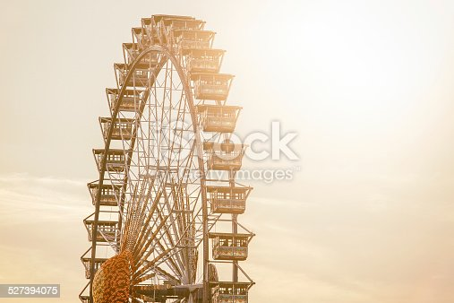 Ferris wheel in feast day.