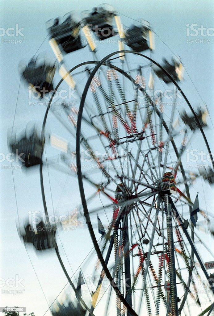 Ferris Wheel Spinning royalty-free stock photo
