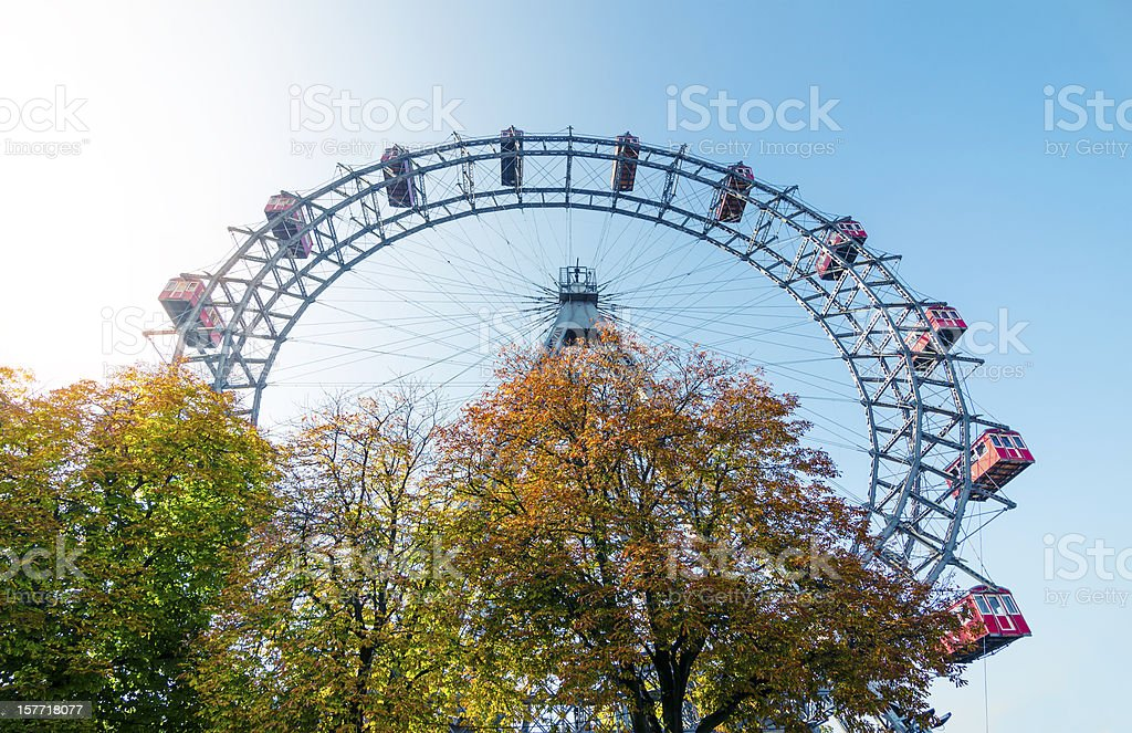 Riesenrad Vienna stock photo