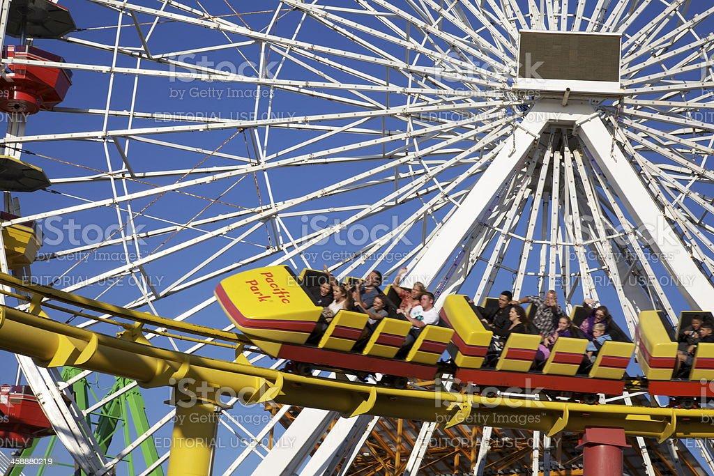 Ferris Wheel with Blue Sky royalty-free stock photo