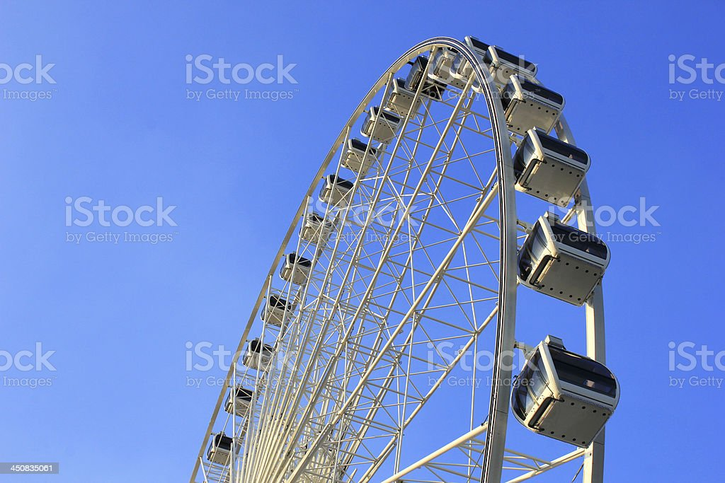 Ferris wheel with clear blue sky royalty-free stock photo
