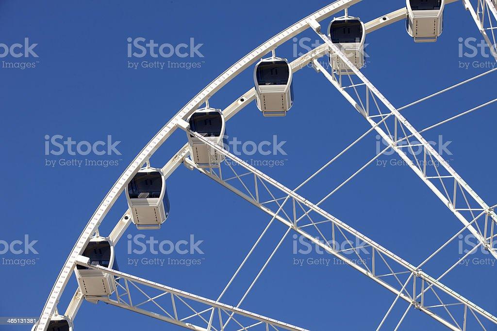 Ferris Wheel with Enclosed Gondolas royalty-free stock photo