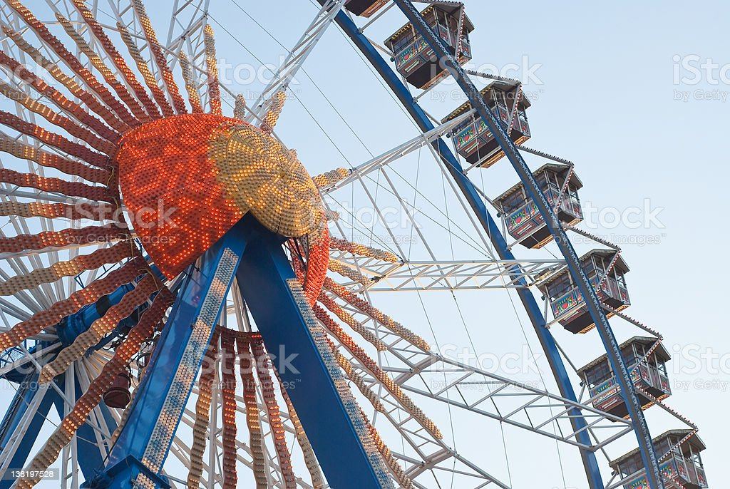 Ferris Wheel with Lights royalty-free stock photo