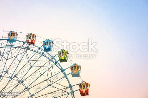 Ferriswheel / Vintage / Colorful / Soft