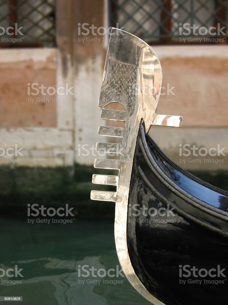 Ferro, front decoration of gondola​​​ foto