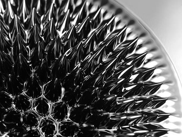 Ferrofluid. Close-up. – Foto