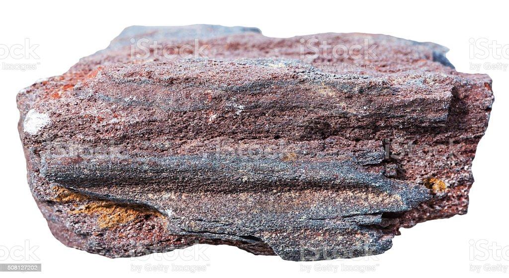 ferruginous quartzite (jaspillite) mineral stone stock photo