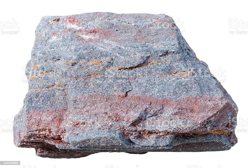 ferruginous quartzite (jaspillite, hematite) rock stock photo