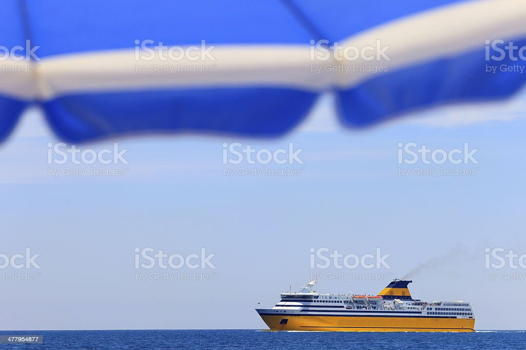 ferry arriving at Nice royalty-free stock photo