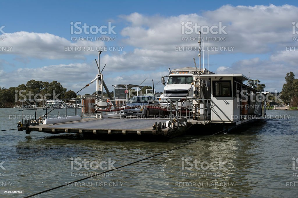 Ferry at Mannum, Murray River, South Australia stock photo