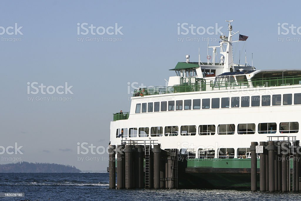 Ferry at Port royalty-free stock photo