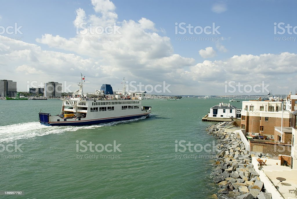 Ferry at Portsmouth stock photo