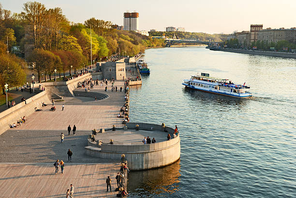 Moscow river embankment – Foto