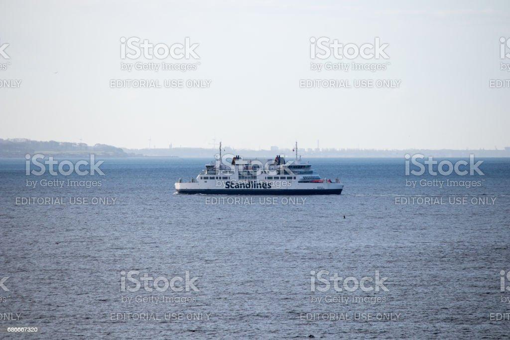Ferry between Helsingor and Helsingborg stock photo