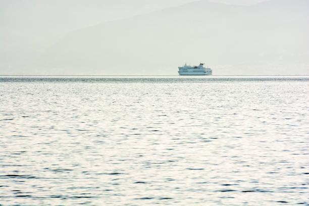 아드리아 해, 크로아티아에서 페리 보트 스톡 사진