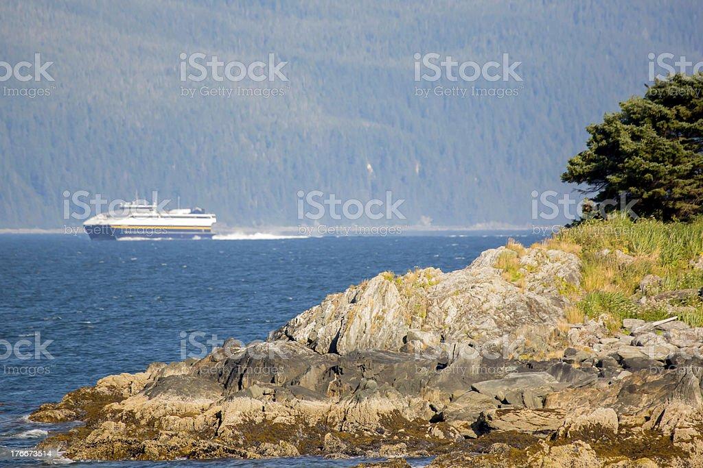 Ferry boat in Juneau Alaska royalty-free stock photo