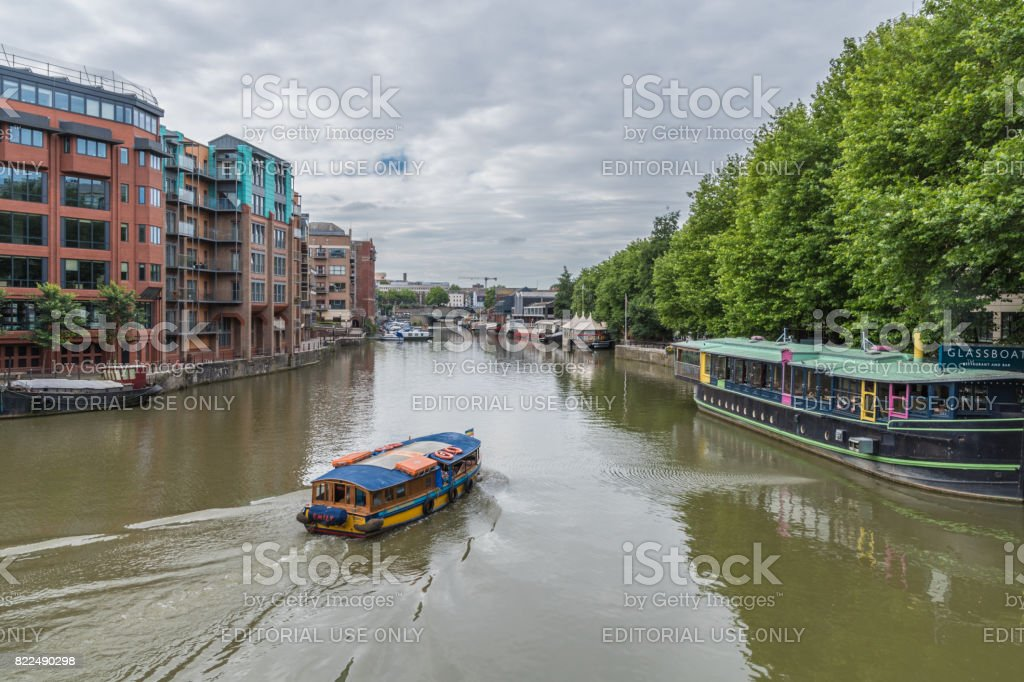Ferry boat on the river in Bristol stock photo