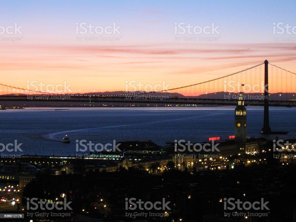 Ferry Building Sunrise stock photo