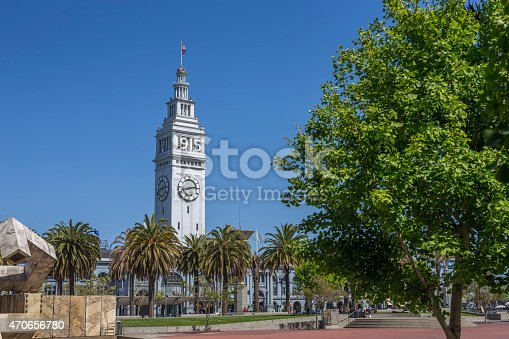 Ferry Building with Clock Tower at San Francisco Downtown