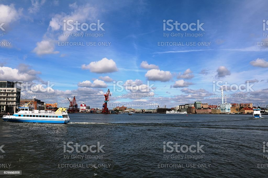 Ferry commutes in Gothenburg, Sweden Scandinavia stock photo