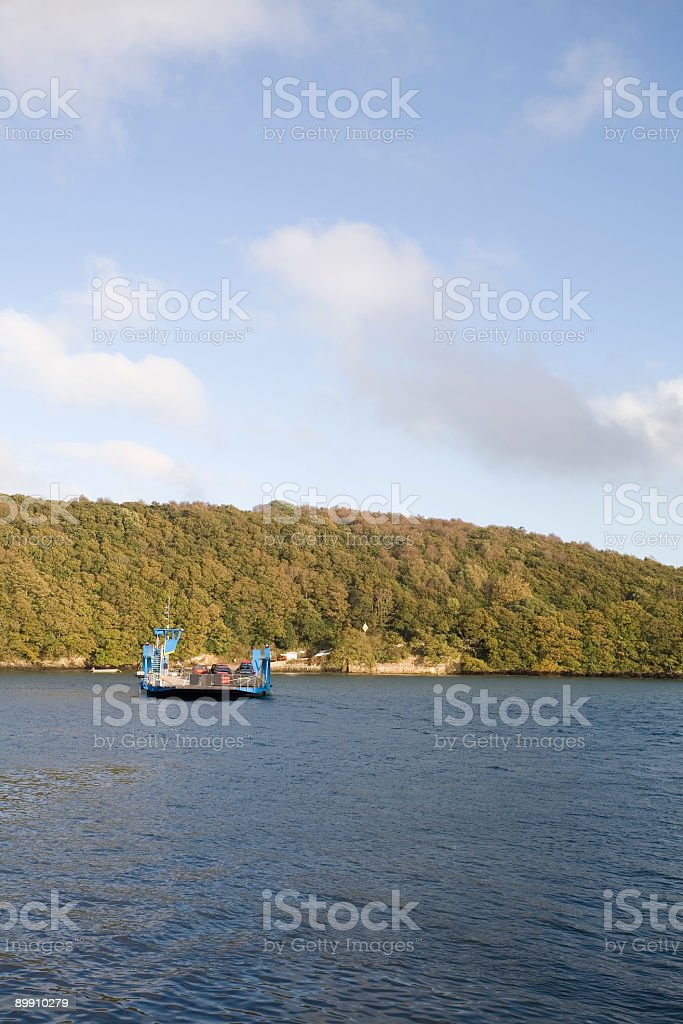 Ferry crossing an river royalty-free stock photo
