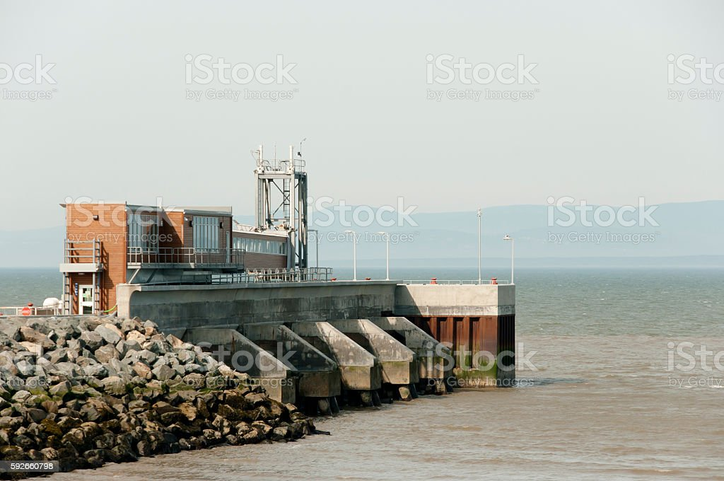 Ferry Crossing Station to St Simeon - Riviere-Du-Loup - Quebec stock photo