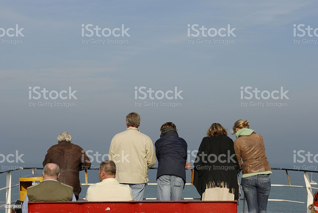 Ferry Departure royalty-free stock photo