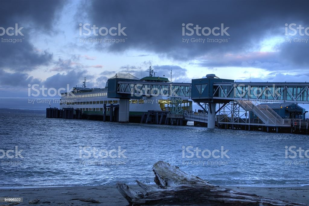 Ferry Docking in the Morning - HDR Photo stock photo