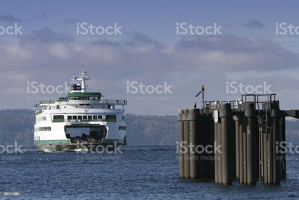 Ferry Docking royalty-free stock photo