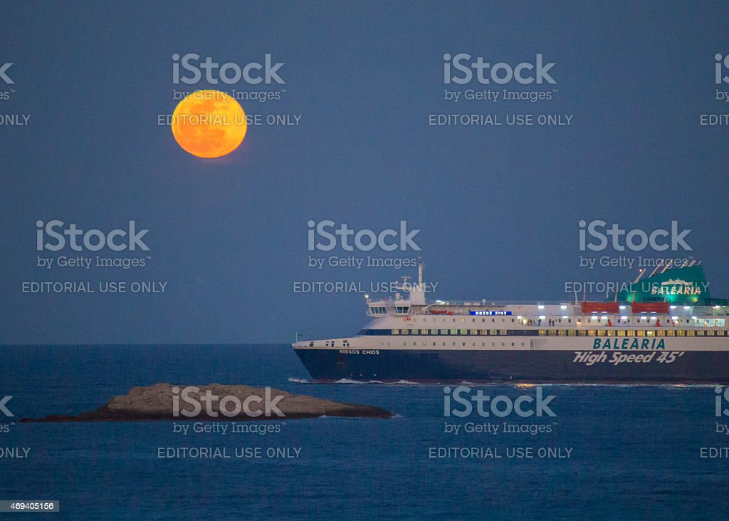 Ferry from Formentera stock photo