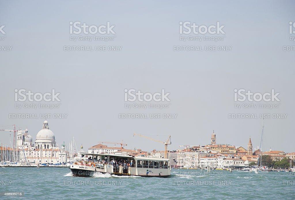 Ferry from Venice City to Punta Sabbioni Cavallino Treporti royalty-free stock photo