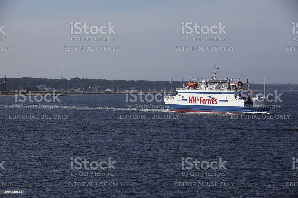 Ferry HH Ferries between Denmark and Sweden stock photo