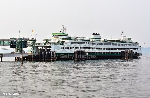 Ferry in Puget Sound near Edmond, WA