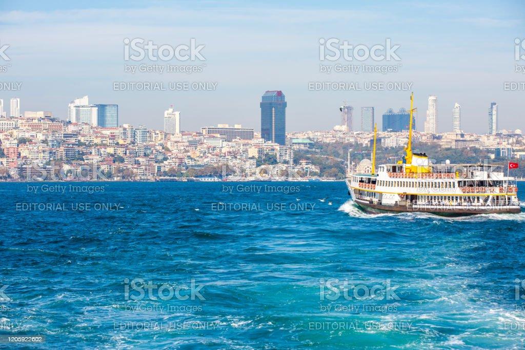 Veerboot in Istanboel - Royalty-free Beroemde plaats Stockfoto