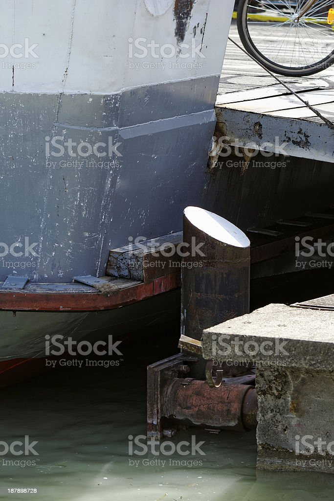Ferry in the harbor royalty-free stock photo