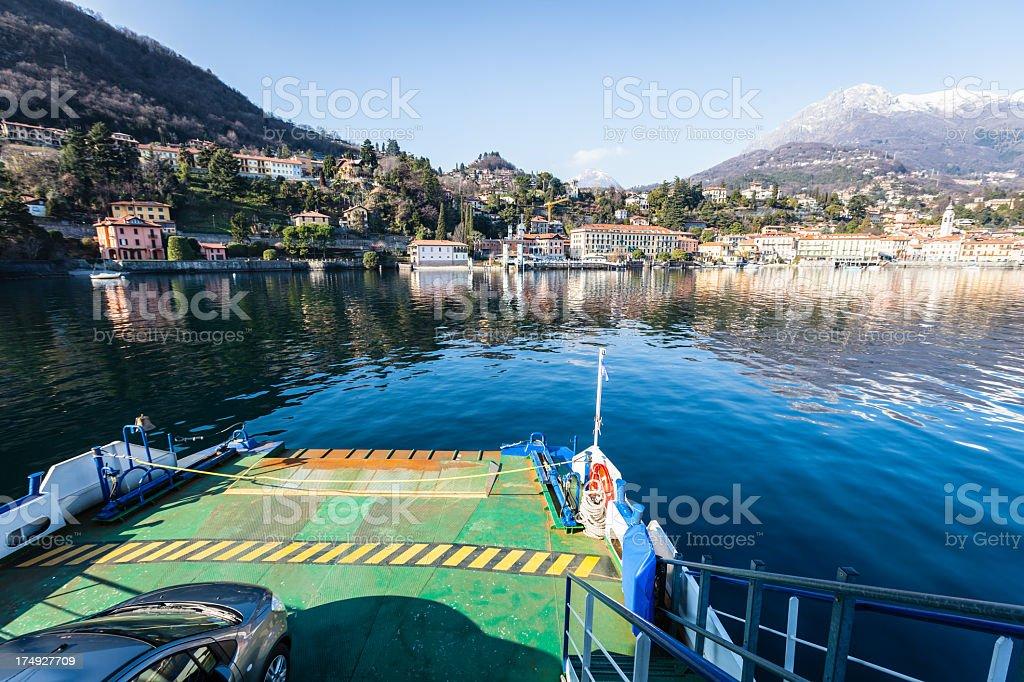 Ferry lake royalty-free stock photo